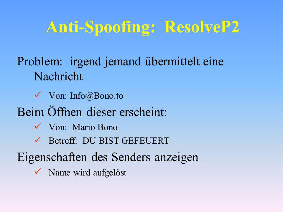 Anti-Spoofing: ResolveP2