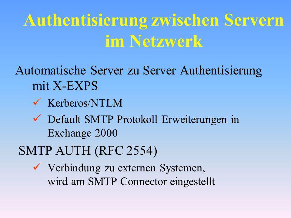 Authentisierung zwischen Servern im Netzwerk