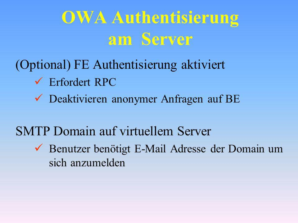 OWA Authentisierung am Server
