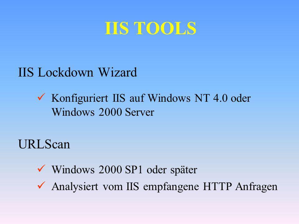 IIS TOOLS IIS Lockdown Wizard URLScan