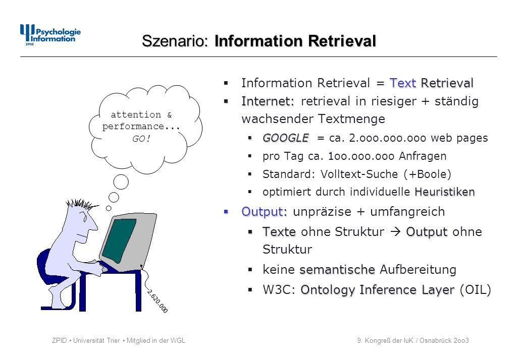 Szenario: Information Retrieval
