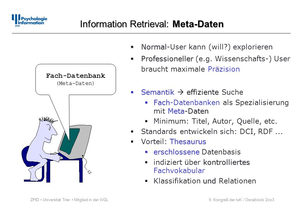 Information Retrieval: Meta-Daten