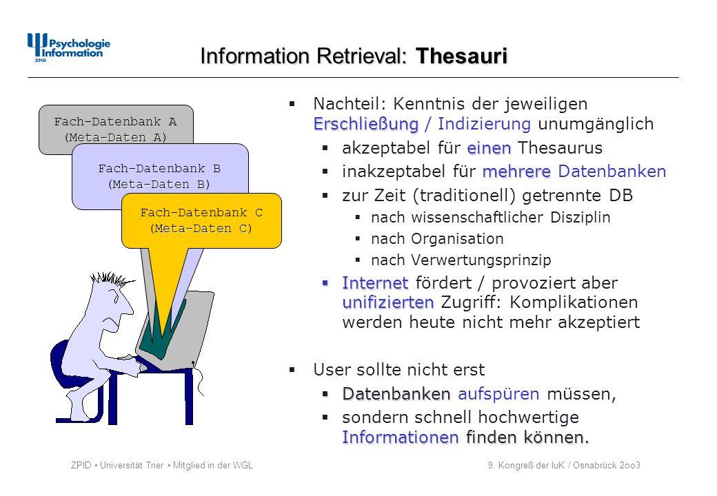 Information Retrieval: Thesauri