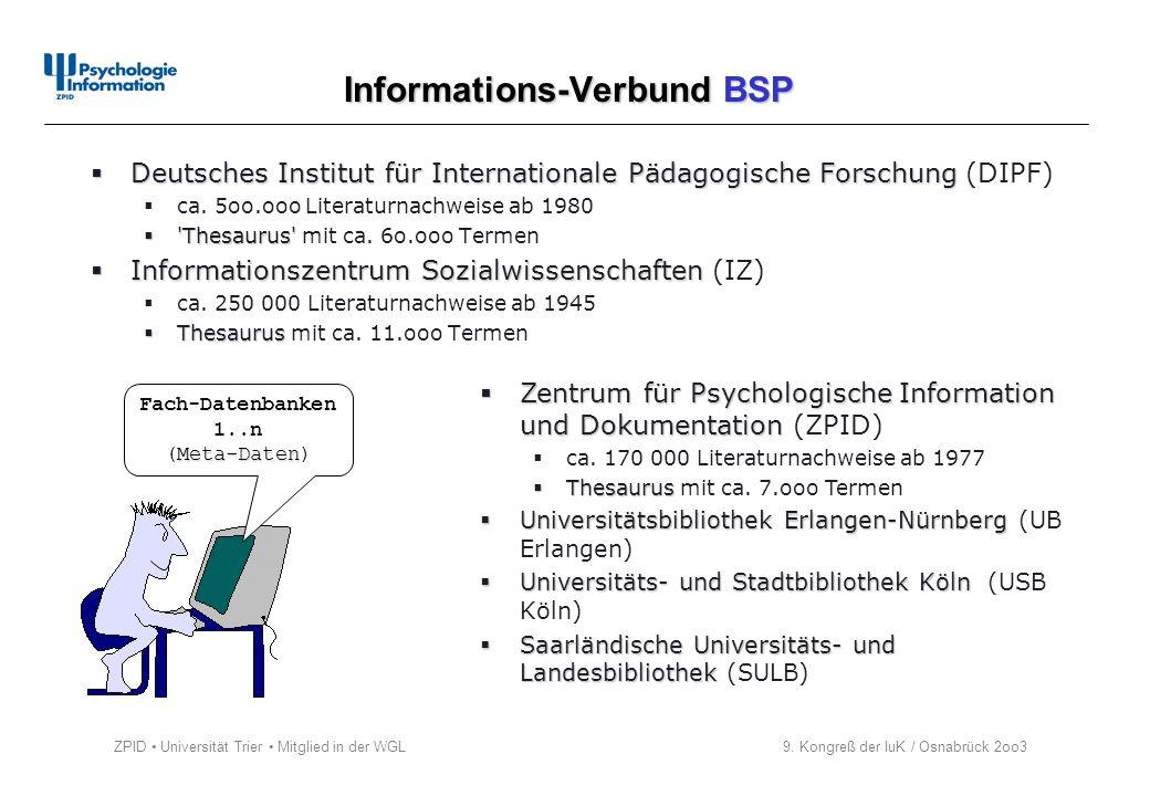 Informations-Verbund BSP