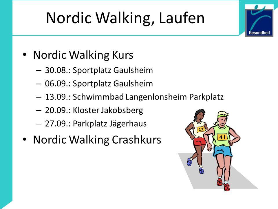 Nordic Walking, Laufen Nordic Walking Kurs Nordic Walking Crashkurs