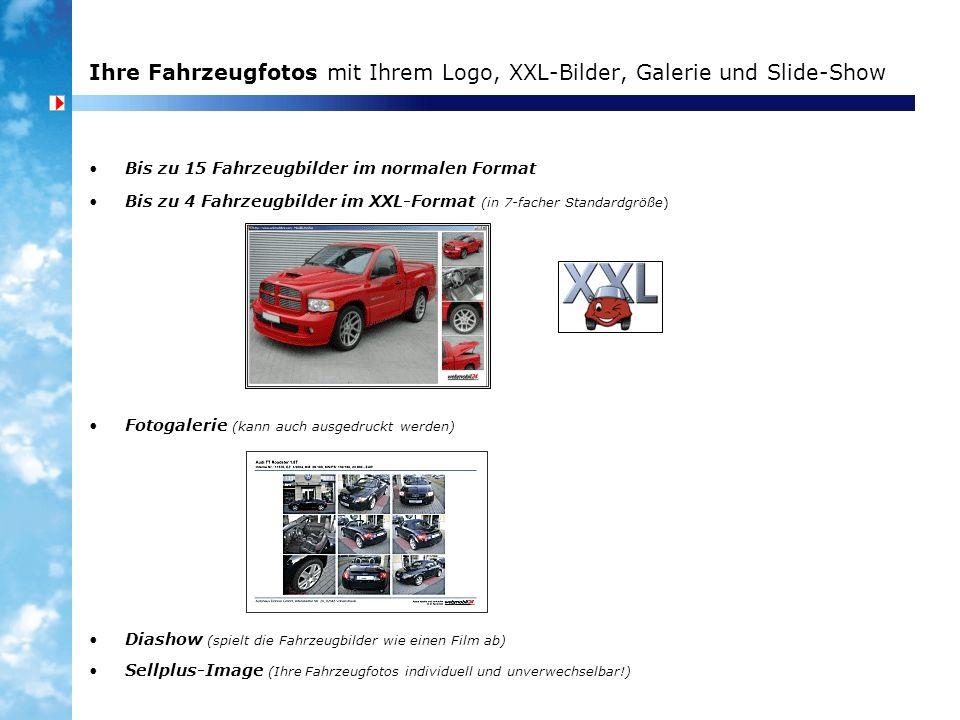 Ihre Fahrzeugfotos mit Ihrem Logo, XXL-Bilder, Galerie und Slide-Show