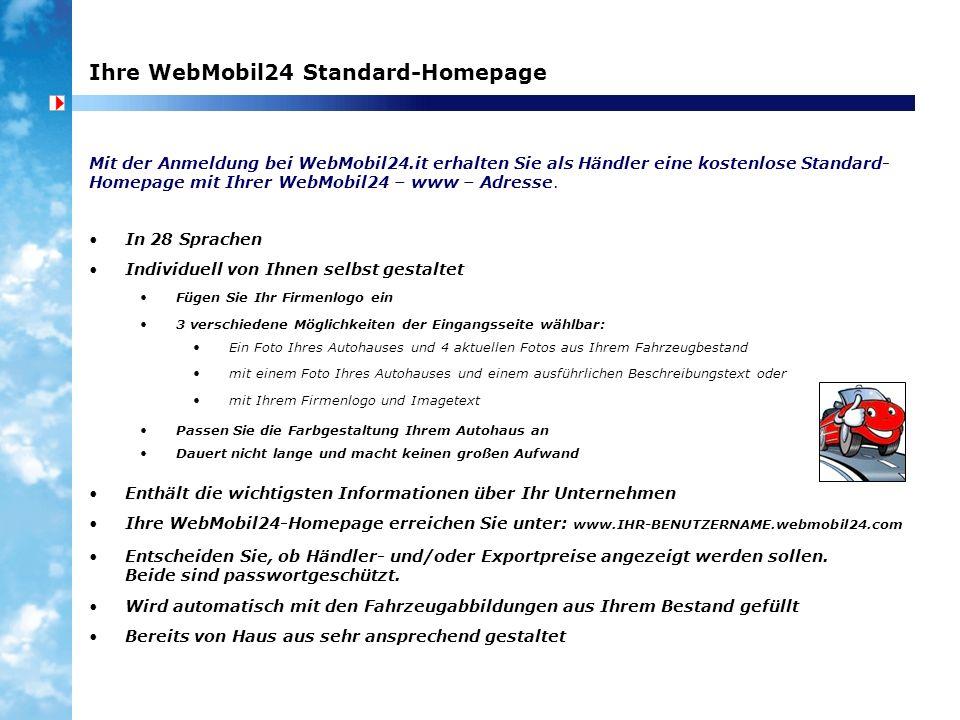 Ihre WebMobil24 Standard-Homepage