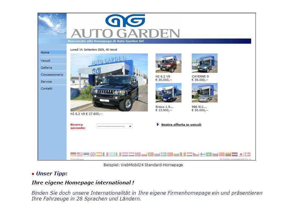Beispiel: WebMobil24 Standard-Homepage