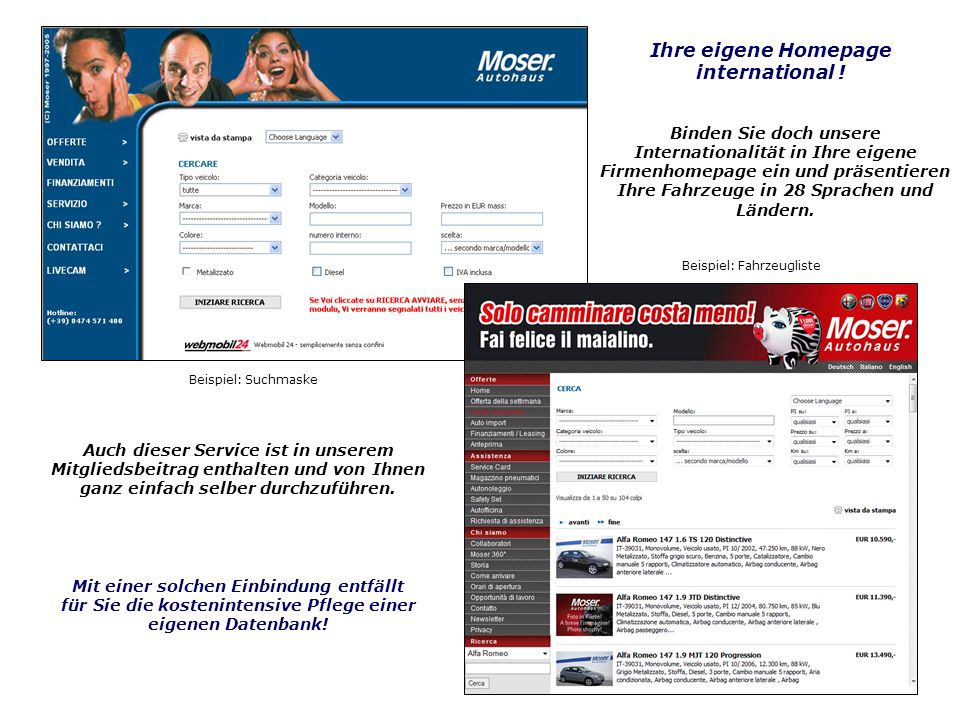 Ihre eigene Homepage international !