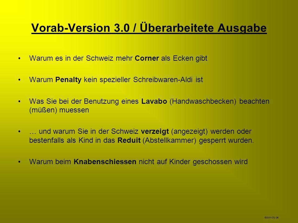 Vorab-Version 3.0 / Überarbeitete Ausgabe