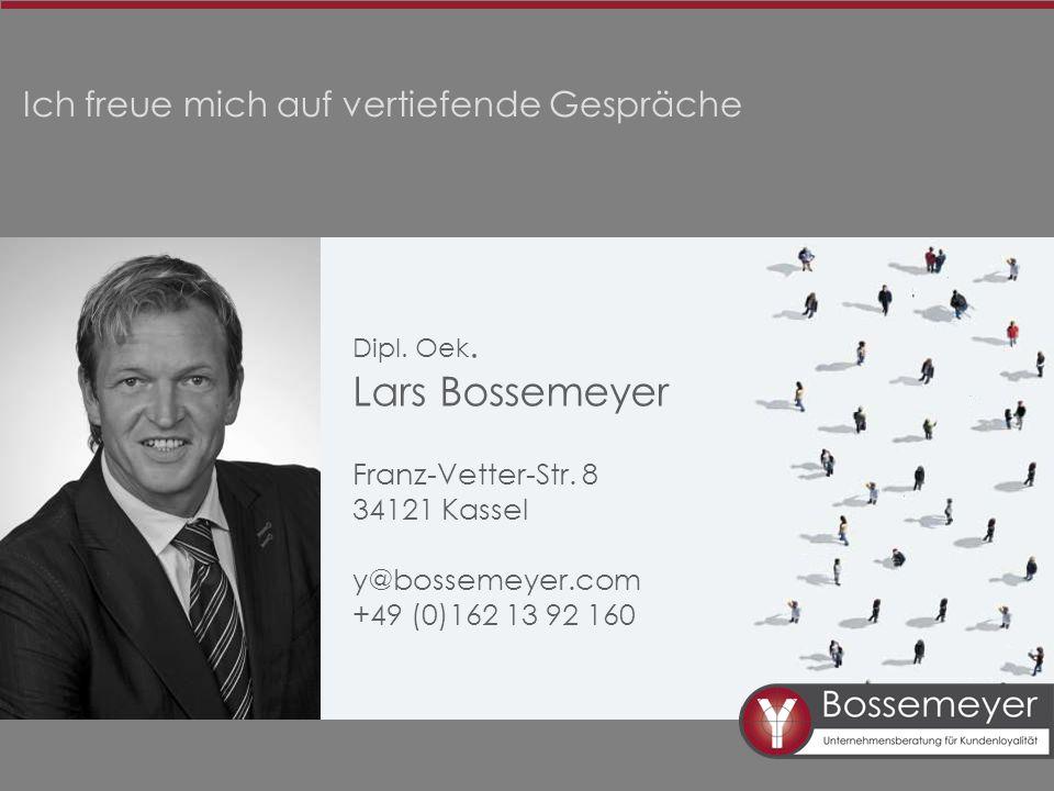Lars Bossemeyer Ich freue mich auf vertiefende Gespräche