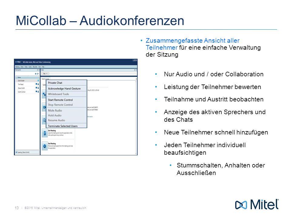 MiCollab – Audiokonferenzen