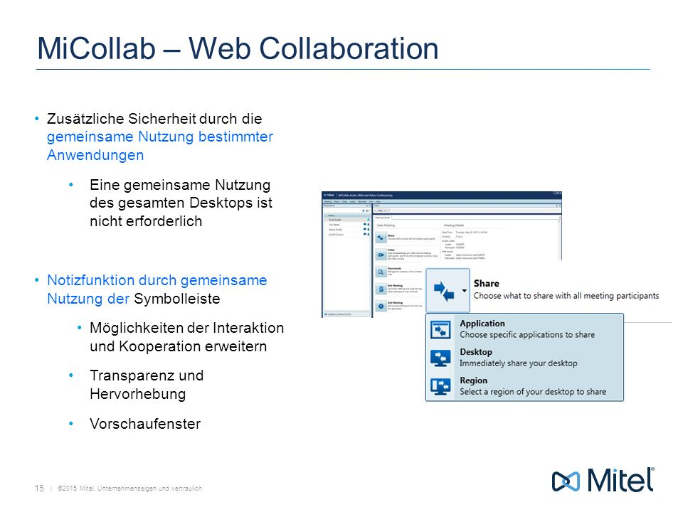 MiCollab – Web Collaboration