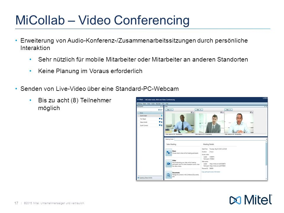MiCollab – Video Conferencing
