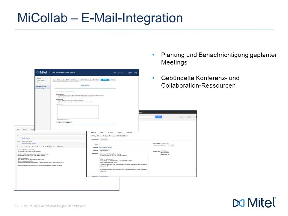 MiCollab – E-Mail-Integration