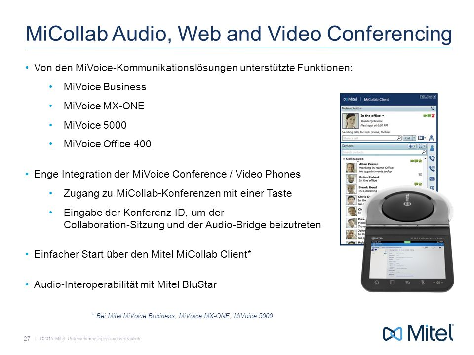 MiCollab Audio, Web and Video Conferencing
