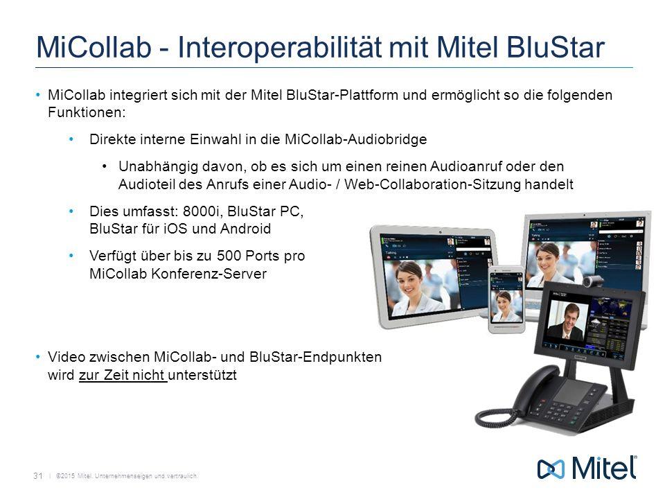 MiCollab - Interoperabilität mit Mitel BluStar