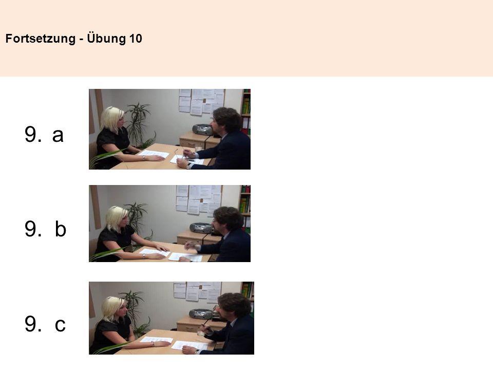 Fortsetzung - Übung 10 a 9. b 9. c