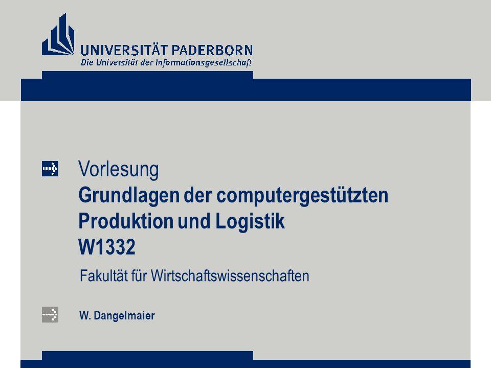 Grundlagen der computergestützten Produktion und Logistik W1332