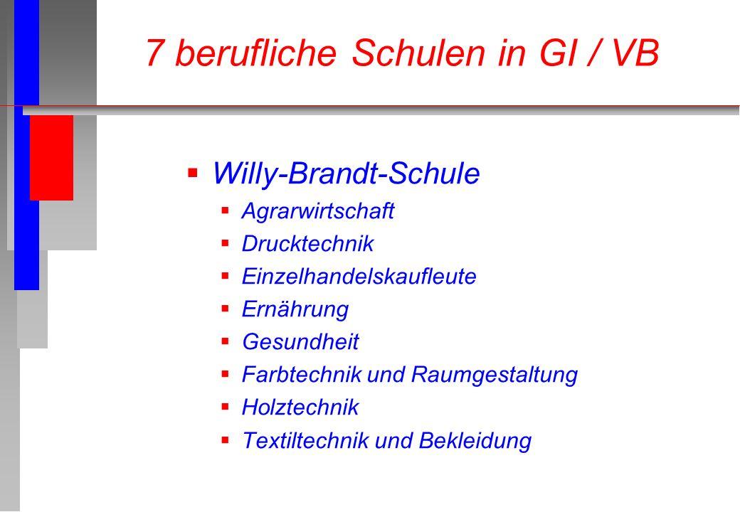 7 berufliche Schulen in GI / VB