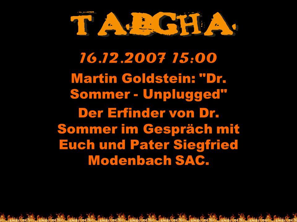 Martin Goldstein: Dr. Sommer - Unplugged