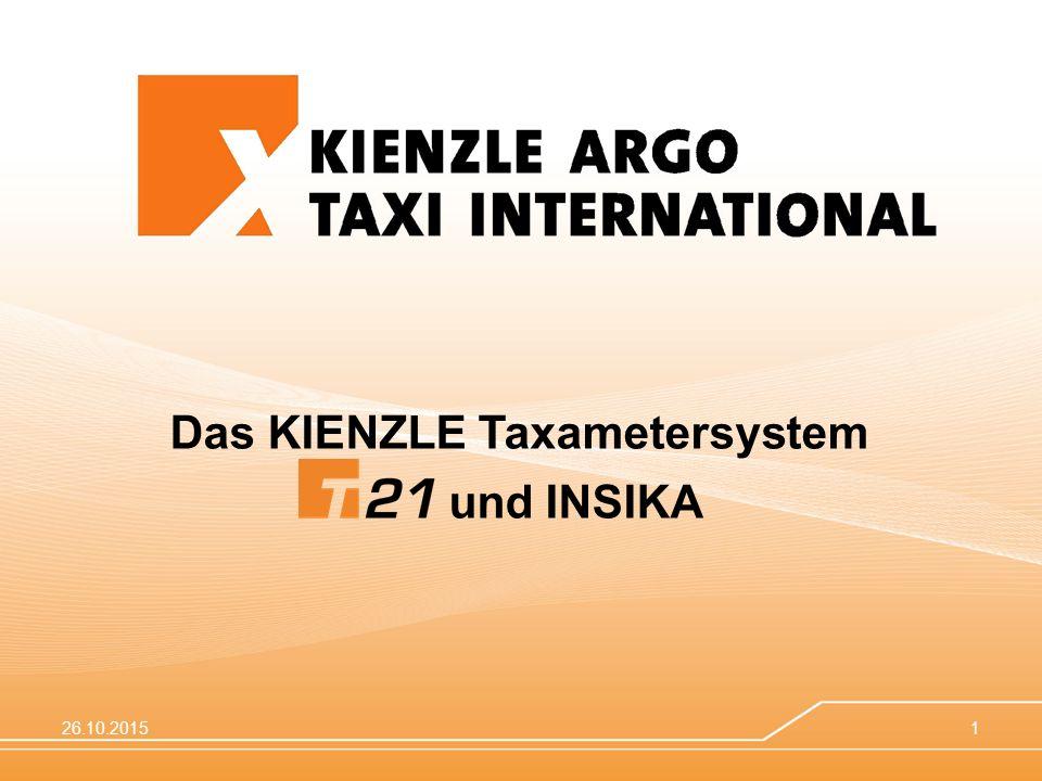 Das KIENZLE Taxametersystem