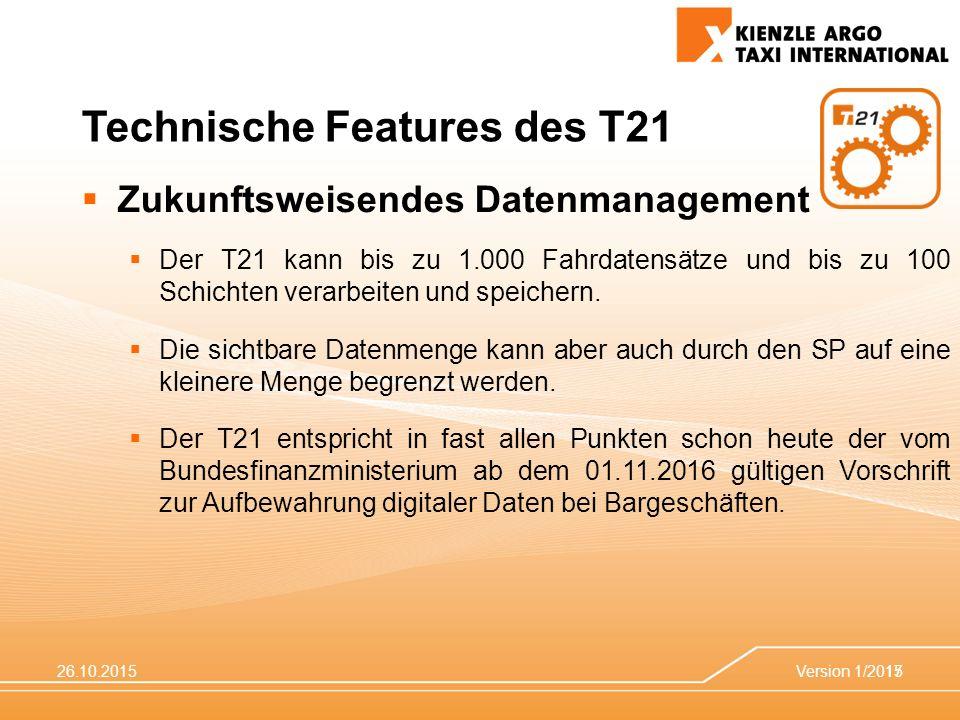 Technische Features des T21