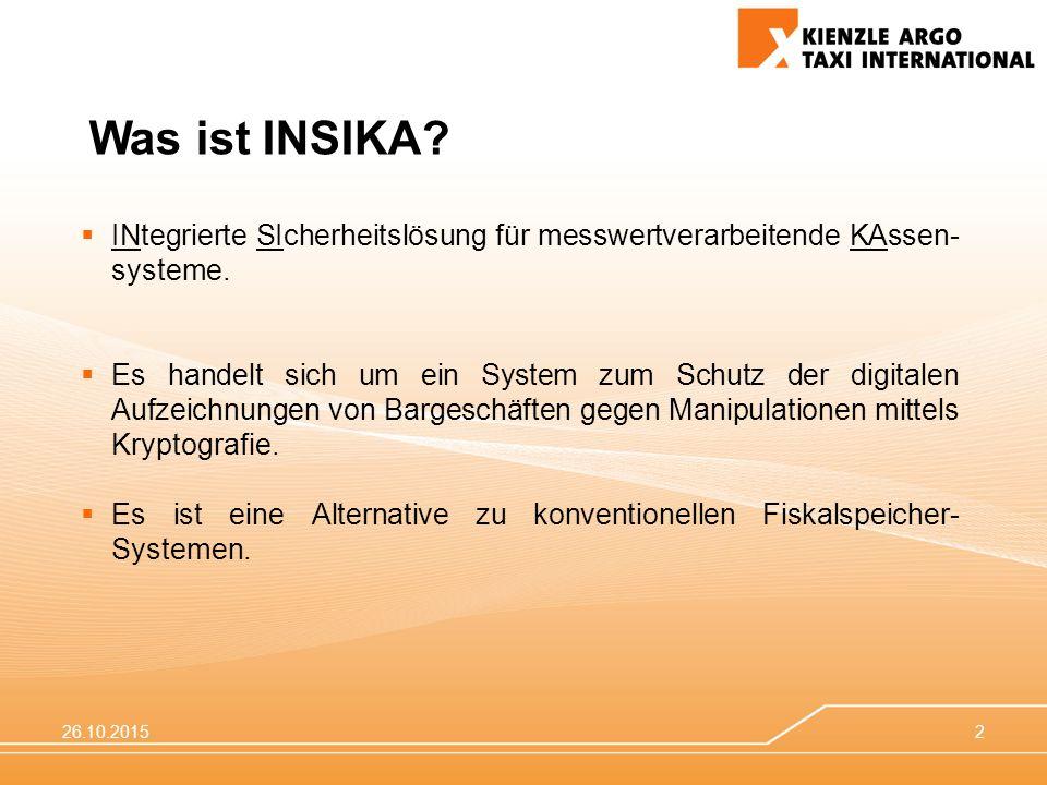 Was ist INSIKA INtegrierte SIcherheitslösung für messwertverarbeitende KAssen-systeme.