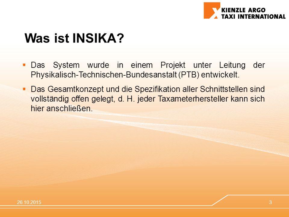 Was ist INSIKA Das System wurde in einem Projekt unter Leitung der Physikalisch-Technischen-Bundesanstalt (PTB) entwickelt.