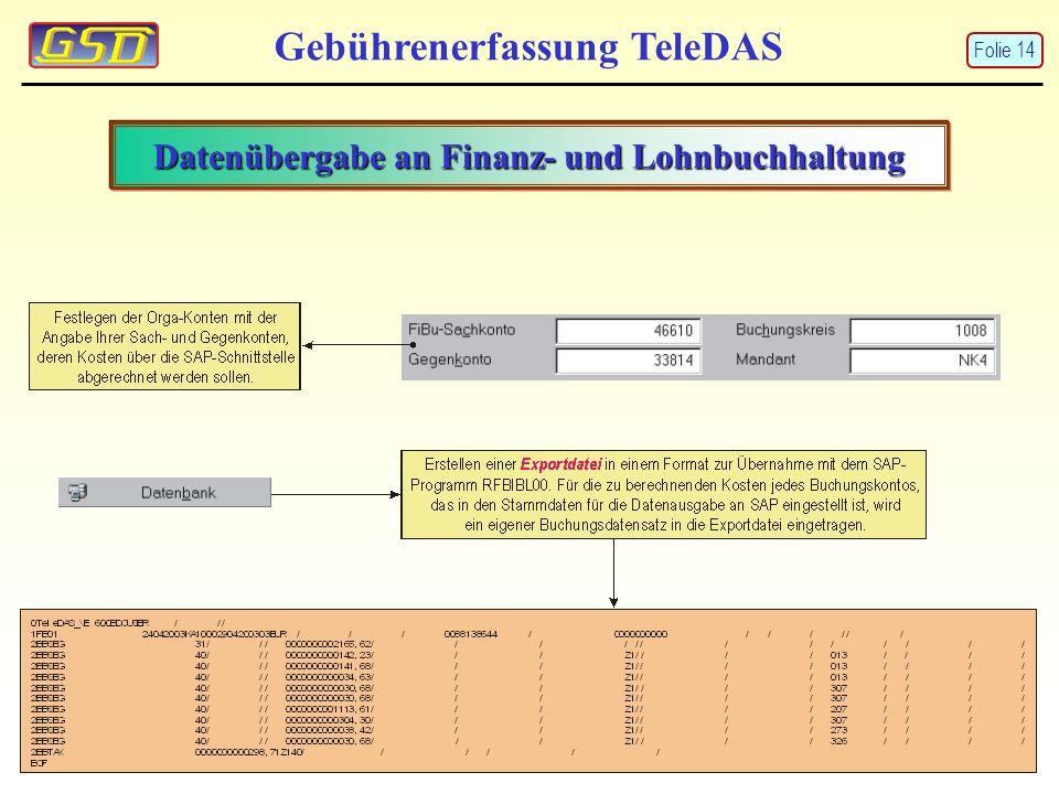 Datenübergabe an Finanz- und Lohnbuchhaltung