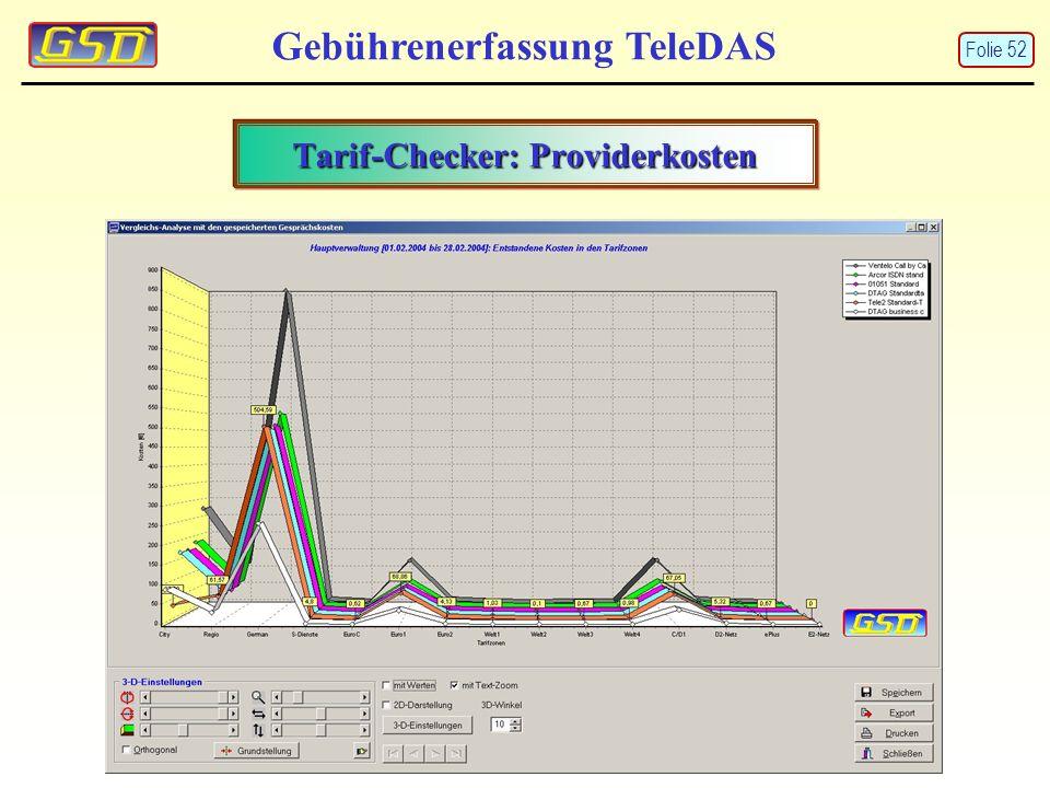 Tarif-Checker: Providerkosten