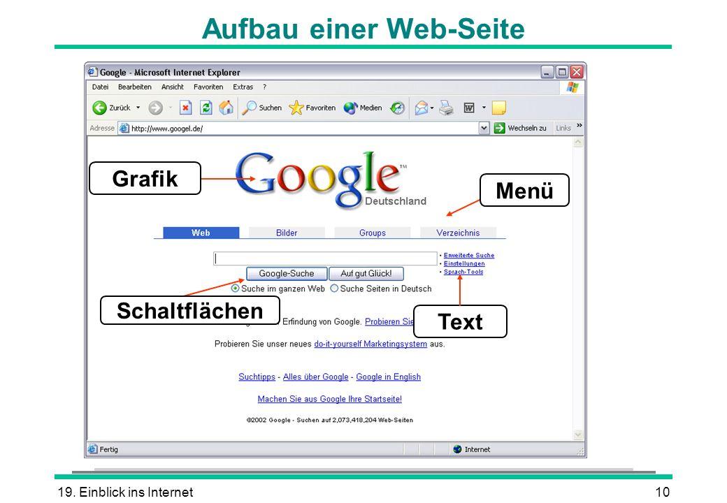 Aufbau einer Web-Seite