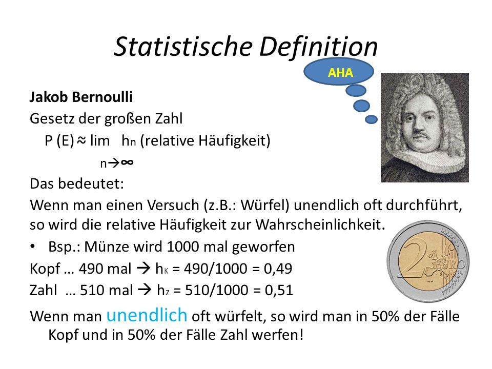 Statistische Definition