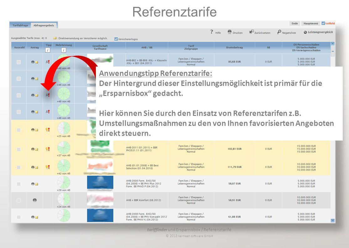 Referenztarife Anwendungstipp Referenztarife: