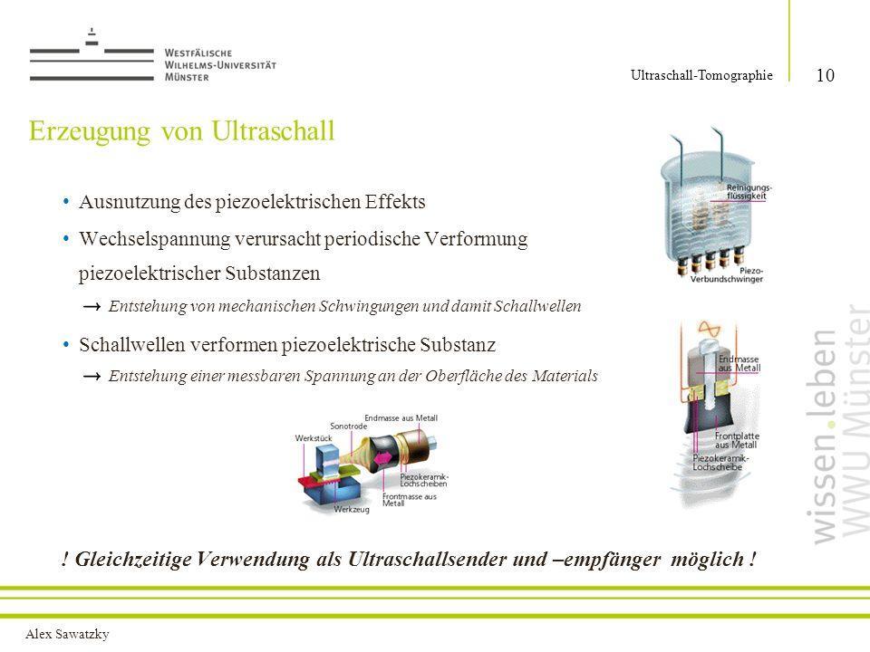 Erzeugung von Ultraschall