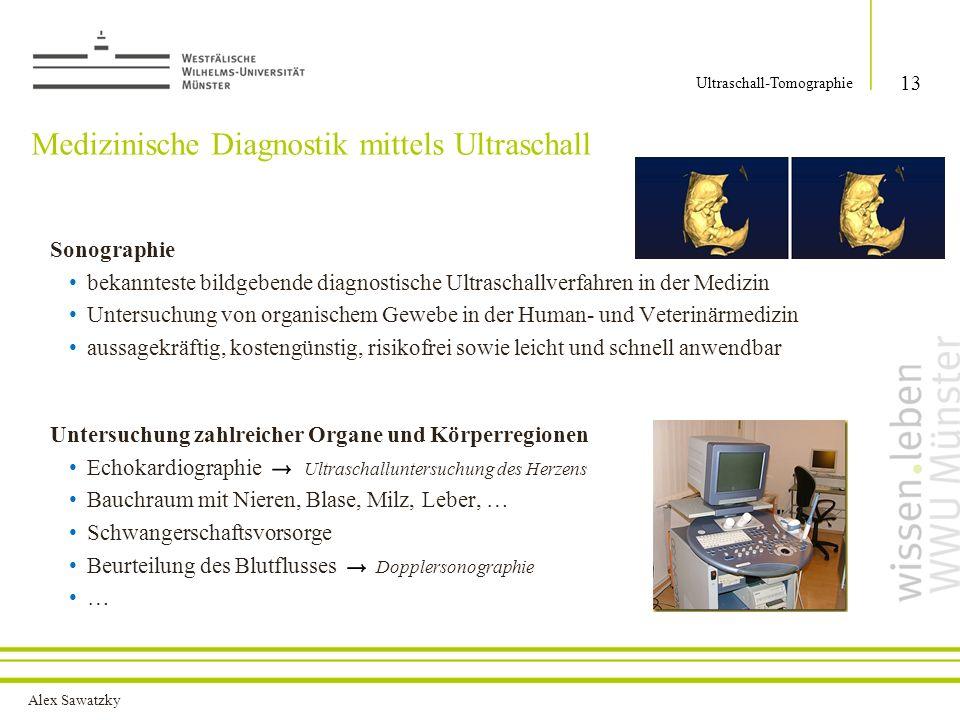 Medizinische Diagnostik mittels Ultraschall