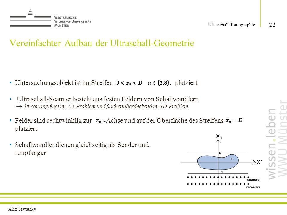 Vereinfachter Aufbau der Ultraschall-Geometrie