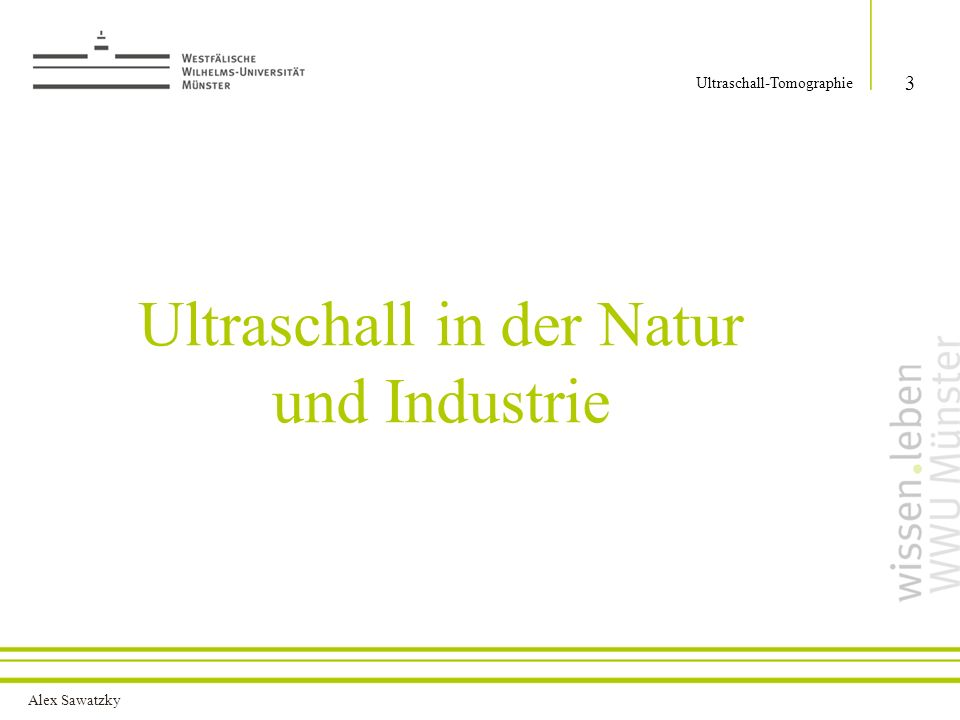 Ultraschall in der Natur und Industrie