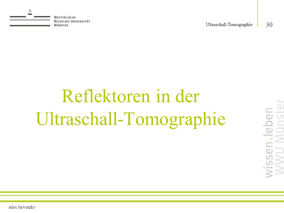 Reflektoren in der Ultraschall-Tomographie