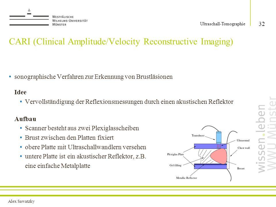 CARI (Clinical Amplitude/Velocity Reconstructive Imaging)