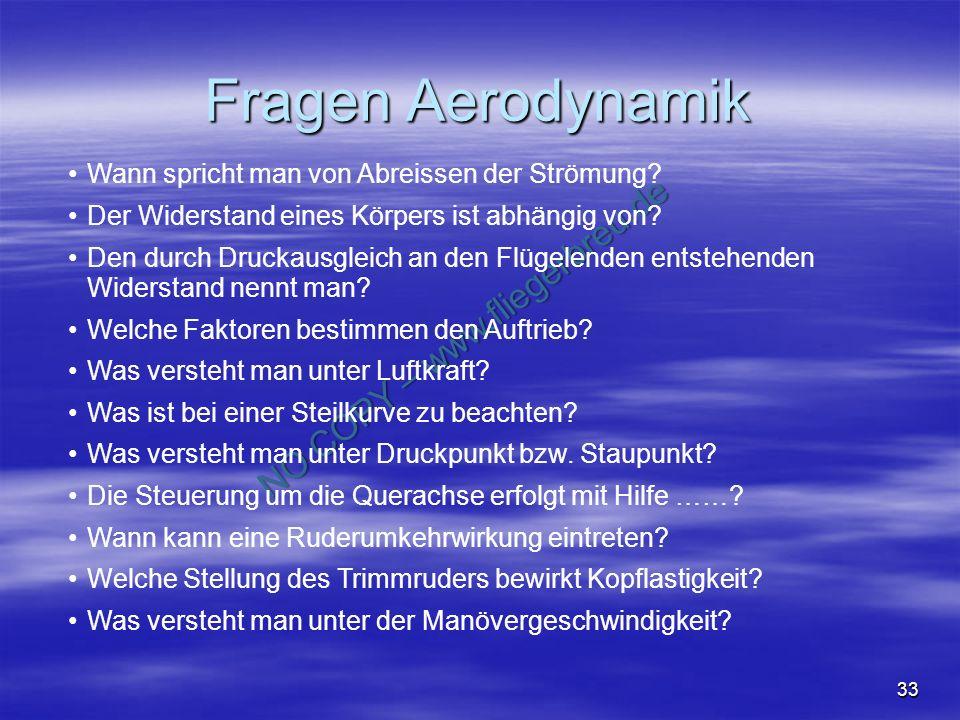 Fragen Aerodynamik Wann spricht man von Abreissen der Strömung