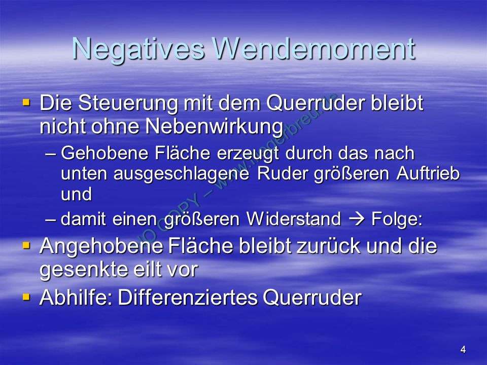 Negatives Wendemoment