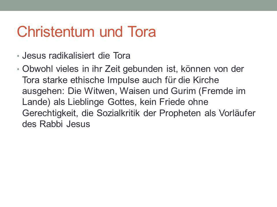 Christentum und Tora Jesus radikalisiert die Tora