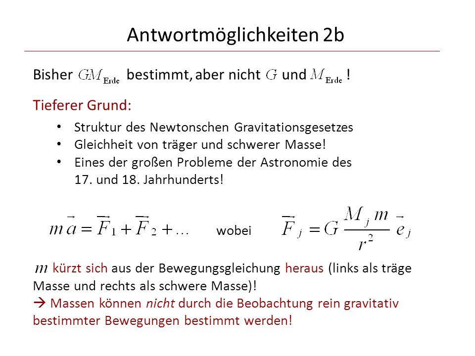 Antwortmöglichkeiten 2b