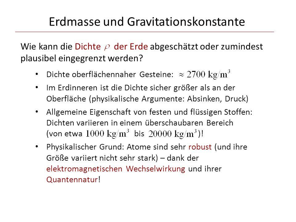 Erdmasse und Gravitationskonstante