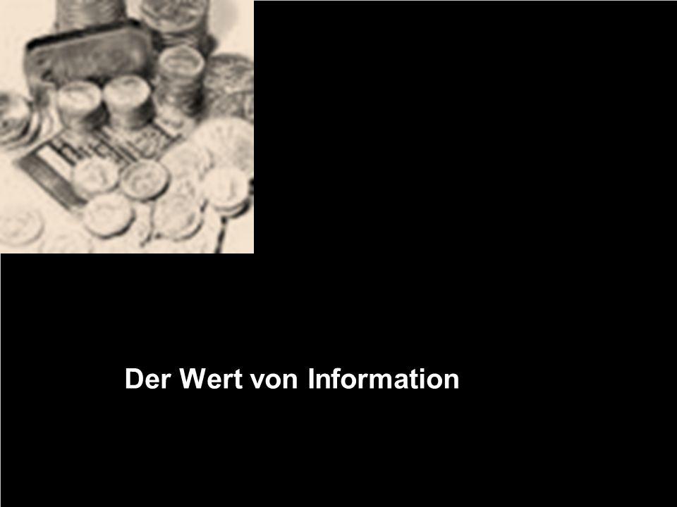 Der Wert von Information