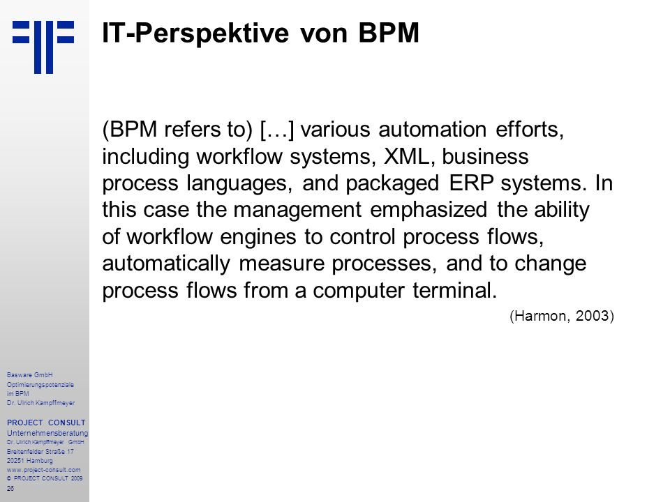IT-Perspektive von BPM