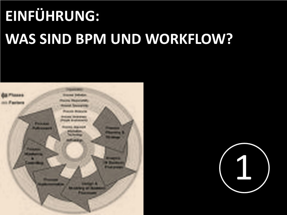 1 EINFÜHRUNG: WAS SIND BPM UND WORKFLOW PROJECT CONSULT