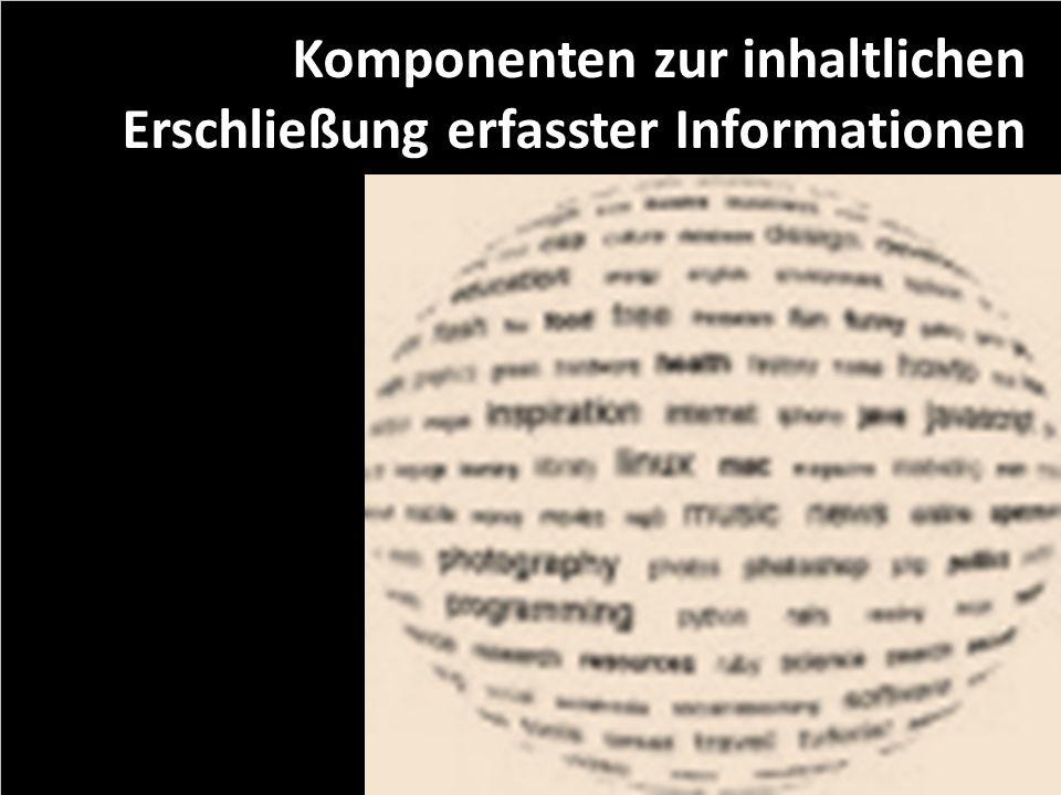 Komponenten zur inhaltlichen Erschließung erfasster Informationen