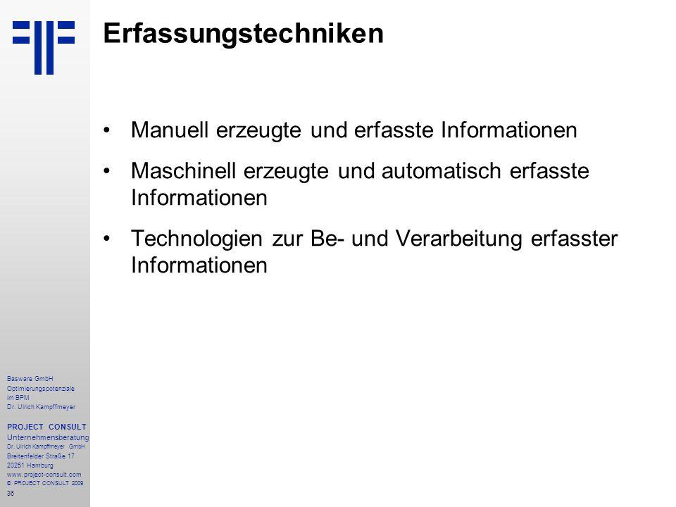 Erfassungstechniken Manuell erzeugte und erfasste Informationen